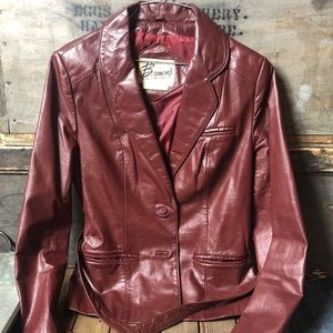 Authentic 1970's Berman's Leather Belted Jacket
